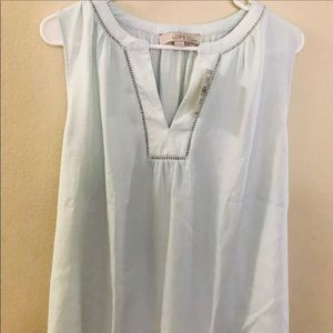 LOFT Split Neck Sleeveless Blouse Top XXLP
